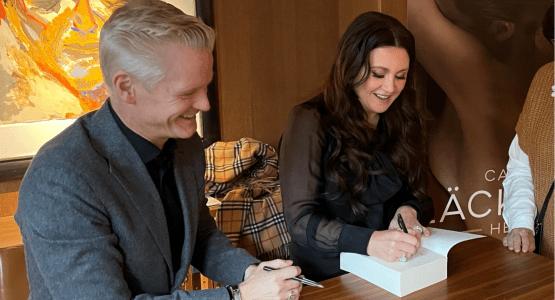Camilla Läckberg en Henrik Fexeus waren op auteursbezoek in Nederland!