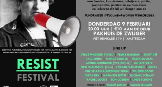 Lebowski organiseert RESIST FESTIVAL op 9 februari