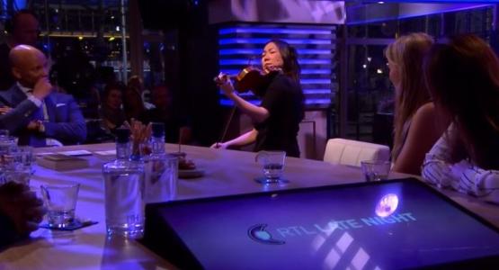 Min Kym te gast bij RTL Late Night