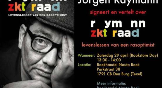 Zaterdag: Independent Bookstore Day met Jörgen Raymann