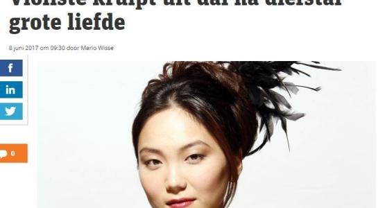 Min Kym op de voorpagina van Metronieuws