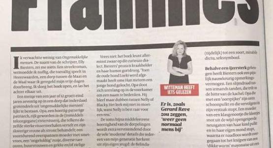 Sylvia Witteman lovend over Elly Biesters in de Volkskrant