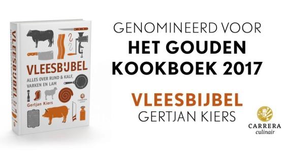 Vleesbijbel genomineerd voor Het Gouden Kookboek