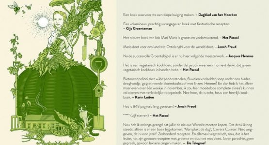 Lovende recensies voor het kookboek 'Mari plukt de dag'