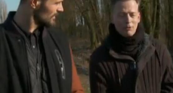 Erik Jan Harmens met Arie Boomsma in De Wandeling