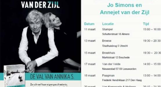 Boekhandelstour Jo Simons en Annejet van der Zijl