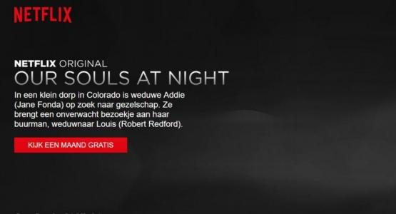 'Onze zielen bij nacht' op Netflix met Fonda en Redford