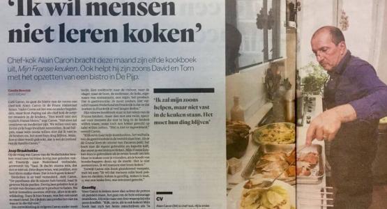 Chef-kok Alain Caron brengt nieuw kookboek uit
