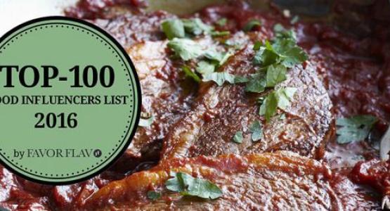 7 auteurs van Carrera Culinair in top 100 Food Infuencers List 2016 Favor Flav
