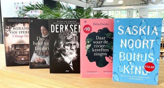 'Derksen', 'De heks van Limbricht', ''t Hooge Nest', 'Daar waar de rivierkreeften zingen' en 'Bonuskind' in De Bestseller 60-lijst van week 33