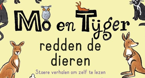In oktober verschijnt bij Moon 'Mo en Tijger redden de dieren' van Elisabeth Mollema met tekeningen van Gertie Jaquet