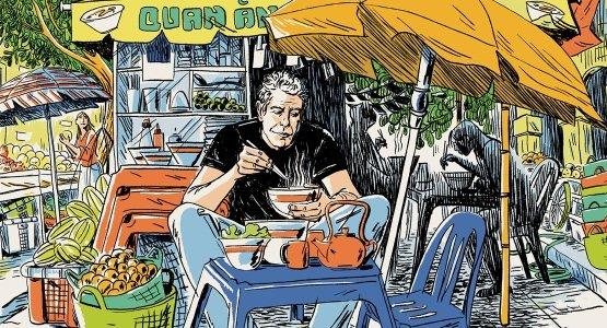 Half september verschijnt bij Carrera Culinair van Anthony Bourdain 'Wereldreizen - de officiële alternatieve reisgids'